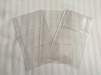 Set of Louis Vuitton plastic MM agenda inserts for business cards, with LV motif
