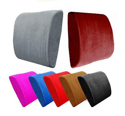 Memory Foam Lumbar Cushion Back Support Pillow Car Seat Home Office Chair Comfy