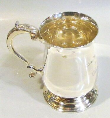 S/Silver 1/2 Litre Mug by BD Hallmarked in Sheffield in 1968 309 Grams  9.9 Troy
