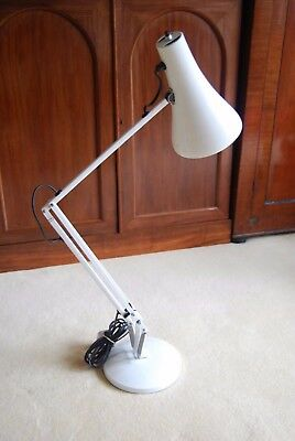 Angle Poise Lamp in White, possible Hebert Terry Model 90