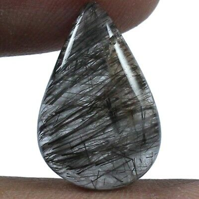 9.40 cts Natural Designer Needled Rutilated Quartz Loose Gemstone Pears Cabochon