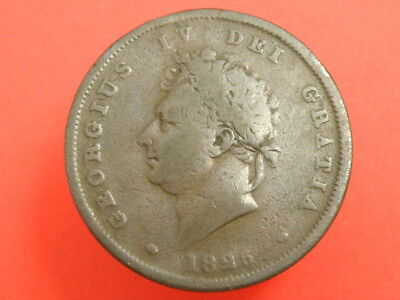 1825 King George Iv - One Penny Coin
