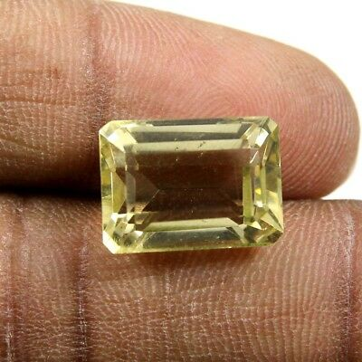 9.10 cts Natural Fine Lemon Quartz Beautiful Octagon Cut Loose Faceted Gemstone