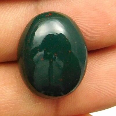 19.30 cts Natural Nice Untreated Bloodstone Gemstone Oval Shape Loose Cabochon