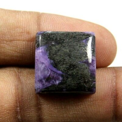 20.60ct 100% Natural Untreated Charoite Gemstone Designer Square Loose Cabochon