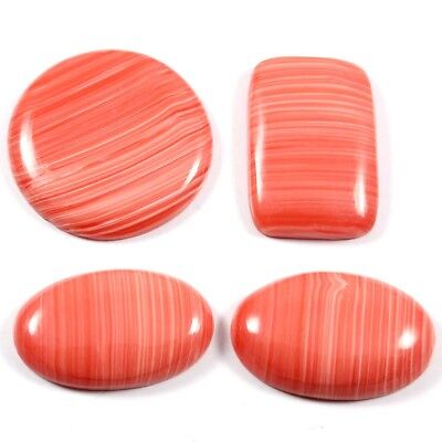 75.70 cts Lab-Created Rhodochrosite Gemstone Mix Cabochon 4 Pcs Wholesale Lot