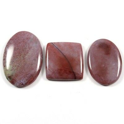99.50cts 100% Natural Bloodstone Gemstone Mix Loose Cabochon 3 Pcs Wholesale Lot