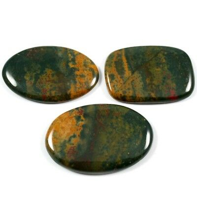 118.30ct 100% Natural Bloodstone Gemstone Mix Loose Cabochon 3 Pcs Wholesale Lot
