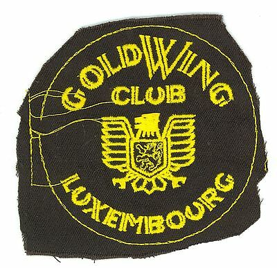 Luxembourg GoldWing Club HTF Vintage Honda Gold Wing Motorcycle Patch Proof