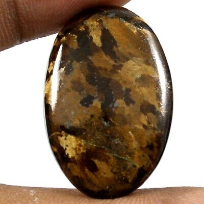 31.65 cts Natural Top Quality Peter Jade Bronzite Gemstone Oval Loose Cabochon