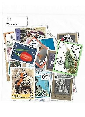 Selection of 50 Poland Used  Postage Stamps