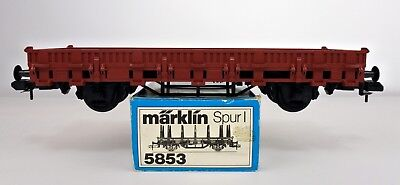 Marklin 1 Gauge 5853 Brown Low Side Gondola With Stakes