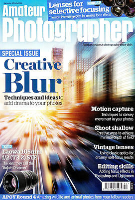 Amateur Photographer magazine with  Laowa 105mm F2  STF   tested  , 30 July 2016