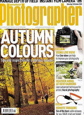 Amateur Photographer magazine  with  Sony  XPERIA Z1   12th October  2013