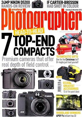 Amateur Photographer magazine with 7 top-end compacts tested  24th November 2012