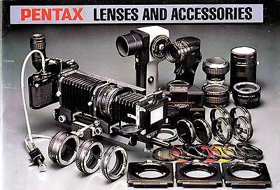 Pentax Lenses and Accessories booklet  ,  in  English  ,