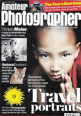 Amateur Photographer magazine with Wildlife photography guide , 23rd Aug  2014