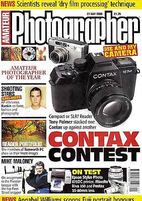 Amateur Photographer magazine Pentax 35-80mm test  Contax article  27th May 2000