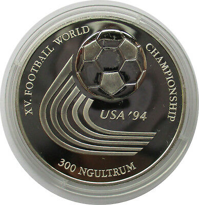 Bhutan 300 Ngultrum 1993 , FIFA-WM 1994 in den USA, Polierte Platte