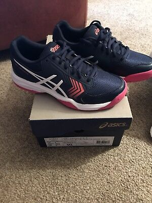 Asics Gel-Dedicate 5 All Court Tennis Shoes Trainers E757Y 4901 UK 3 NEW