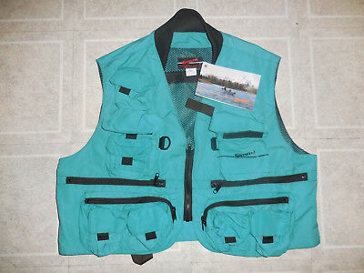 NWT SIMMS Fly Fishing Guide Made USA Lots of Pockets Nylon Vest Sz XL