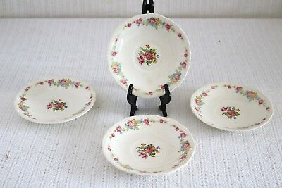 "Steubenville STB369 Multi Colored Floral Center & Rim Embossed 6"" Saucers (4)"