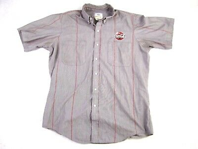 Vintage Coca-Cola Uniform Short Sleeve Work Shirt RiverSide Size Large