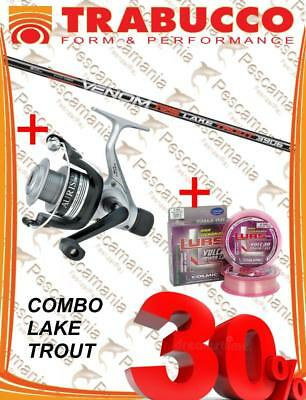 Set Trabucco lake trout fishing rod Venom RS + reel Auris + nylon combo