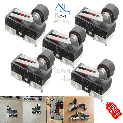 Ultra Micro Limit Switch Roller Arm Subminiature SPDT Snap Action 1A