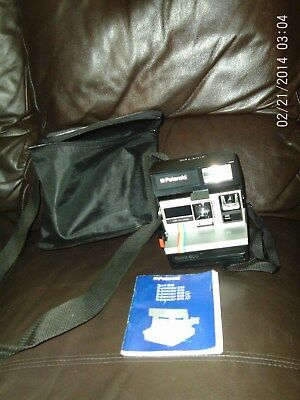 Vintage Polaroid Camera Spirit 600 With Rainbow Stripe Good Condition With Case