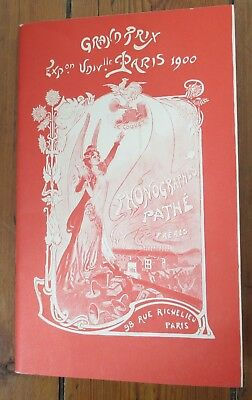 Catalogue Phonographes Pathe 1903 - Grand Prix Exposition Universelle 1900