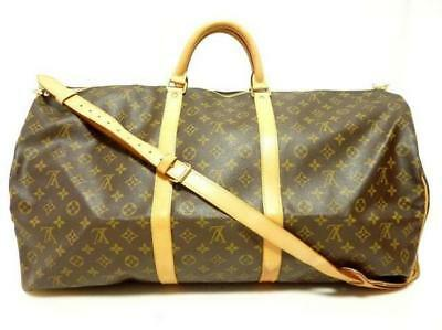 AUTHENTIC LOUIS VUITTON Keepall Bandouliere 60 M41412 Grade A USED -CJ
