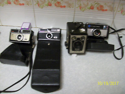 vintage box brownie and kodak camera's 99p start with NO reserve