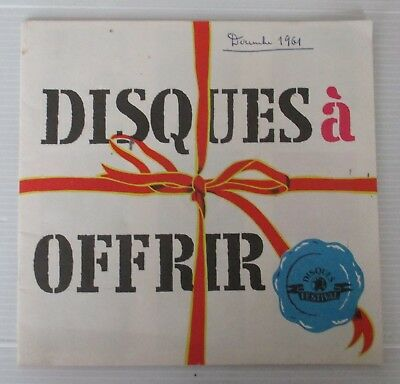 CATALOGUE DISQUES à OFFRIR  - FESTIVAL - 1961. TINTIN, BABAR, CHANSONS NOEL ...