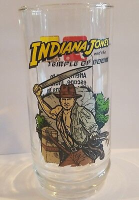 1984 Indiana Jones and the Temple Of Doom Collectible Glass