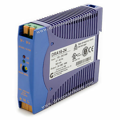 DRA18-24, 24V DC, 750mA, 18W, Power Supply, 100~240V AC input,