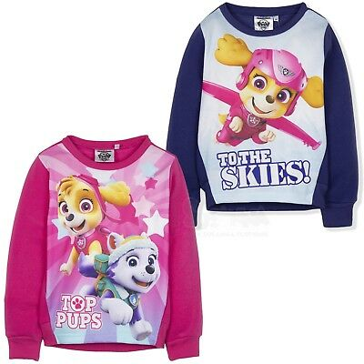 Official Paw Patrol Girls Warm Jumper Fleece Sweatshirt Hoodie Winter 2-6 Years