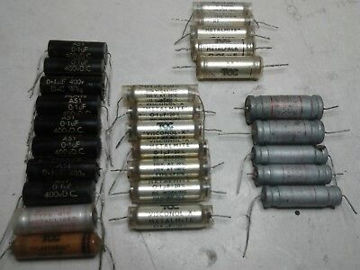 Collection of Vintage Capacitors Hunts / TCC / Sprague etc Untested