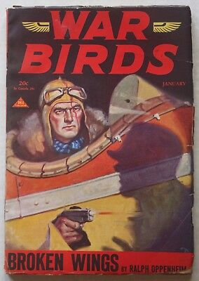 WAR Birds~ Dell ~ Jan 1931 ~Aviation Pulp Magazine ~ H.W.Reuswig~ Oppenheim ~ VF