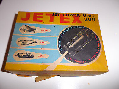 """Rare Jetex 200 Jet Power Unit Boxed With Instructions For Up To 24""""42"""" Wing Span"""