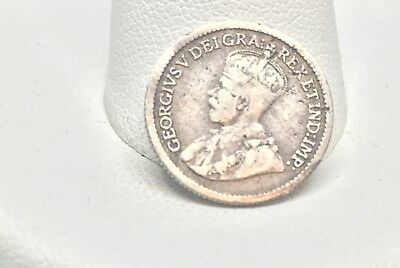 1914 Canada Silver Five 5 Cent Coin