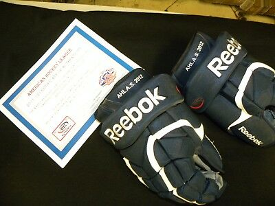 2012 AHL All-Star Game Used Gloves Mark Borowiecki Binghamton Senators Ottawa