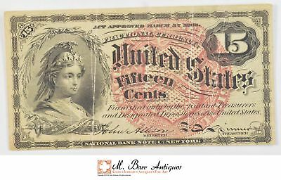 1869-1875 Fifteen Cents 4th Issue Fractional Currency *717