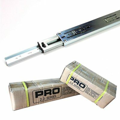 "Full Extension 100-lb Ball Bearing Drawer Slides 10""-24""  Pro-Series"