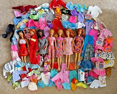 90+ Piece Giant Variety Lot of Barbie Dolls & Fashion Clothing - Mattel