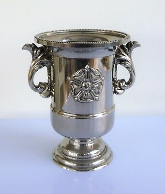Vintage Silver-Plated Tudor Rose Urn Pot Cocktail-Stick Holder Candle-Holder Etc
