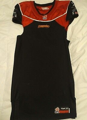 2007 Stampeders CFL authentic black game jersey (no name or number, not used)
