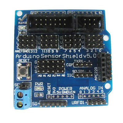 For Arduino / Genuino UNO R3 Sensor Shield V5.0 Extension Board E3B3 U5M2