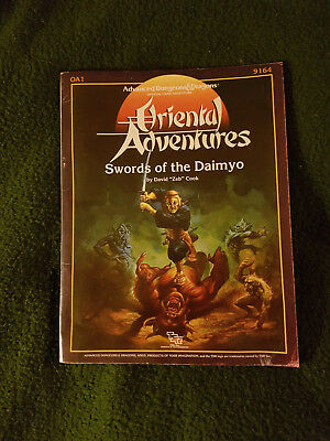 AD&D 1.0 Advanced Dungeons & Dragons - Swords of the Daimyo - Kara Tur OA1 1986