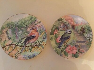 2 Royal Doulton Collector Plates,garden Visitors Collection Chaffinch & Blue Tit